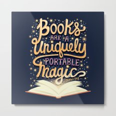 Books are magic Metal Print