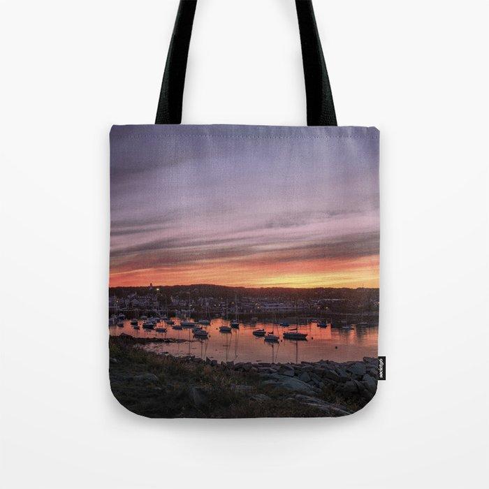 Last Rockport Sunset of Summer Tote Bag