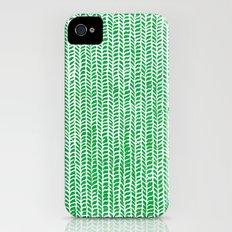 Stockinette Green iPhone (4, 4s) Slim Case