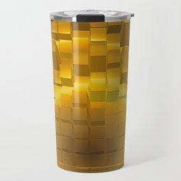 Abstract golden gradient texture. Travel Mug