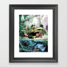 Social Fantasy Framed Art Print