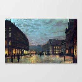 John Atkinson Grimshaw Boar Lane Leeds Lamplight Canvas Print