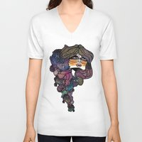 pisces V-neck T-shirts featuring Pisces by annabours