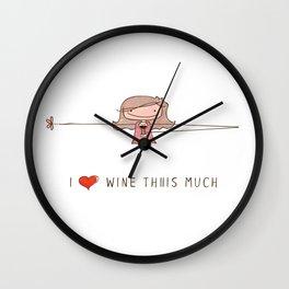 I love wine girl Wall Clock