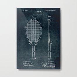 1906 - Tennis racket patent art Metal Print