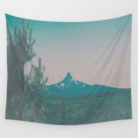washington Wall Tapestries featuring Mount Washington by Hannah Kemp