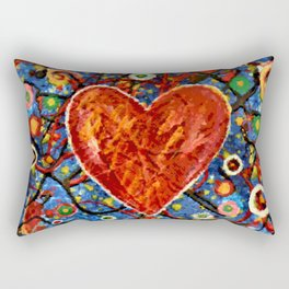 Painted Heart Rectangular Pillow