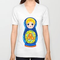 mother V-neck T-shirts featuring MOTHER by Riku Ounaslehto