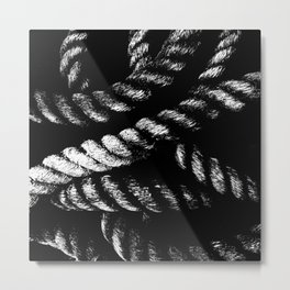 Black Rope Metal Print