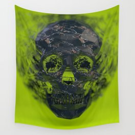 Skull Explotion Wall Tapestry