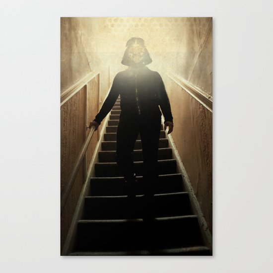Stairway to the dark side _ vader descending  Canvas Print