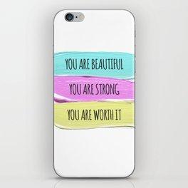 Self Worth Love iPhone Skin