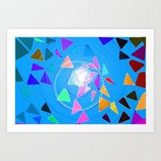 Pythagoras Swirl  Art Print