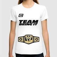 wwe T-shirts featuring Team Bring It The Rock WWE by ems23