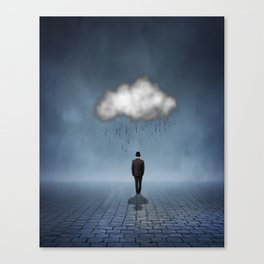 I like to Walk in the Rain, So No One Can See me Cry Canvas Print