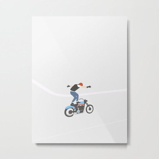 MOTORCYKLIST Metal Print