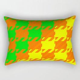 Checkered Orange Yellow Green Rectangular Pillow