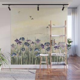 Iris meadow Wall Mural
