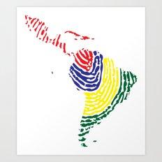 Latin America Art Print