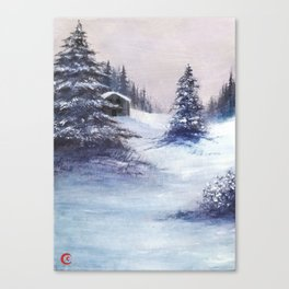Serene Snow Canvas Print