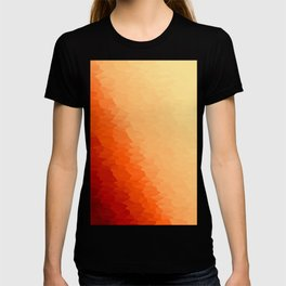 Orange Texture Ombre T-shirt