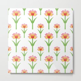 Papercut Florals Metal Print