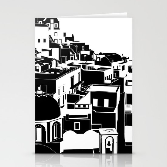 Fira Black and White Stationery Cards