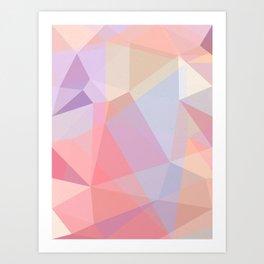 Powder Geometry - bright Art Print