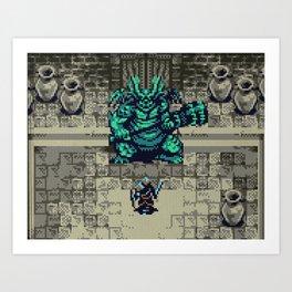 Dark Souls Gameboy Demake: Asylum Demon ( no HUD version) Art Print