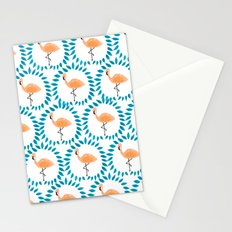 Flamingo and Leaves Stationery Cards