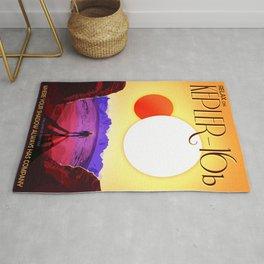 Vintage poster - Kepler-16b Rug
