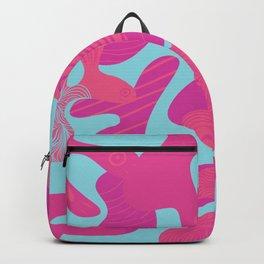 Pink Sea Life Backpack