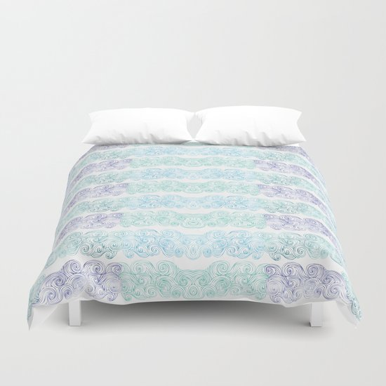 Sea Wave Clouds Duvet Cover