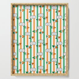 kiss me i'm irish-ish stripes Serving Tray