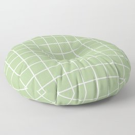 Grid Pattern Sage Green 2 Floor Pillow