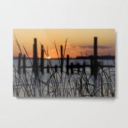Mississippi Gulf Coast Sunset Metal Print
