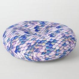 Rose Mermaid Skin Pattern Floor Pillow