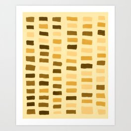 Painted Color Block Rectangles in Yellow Art Print