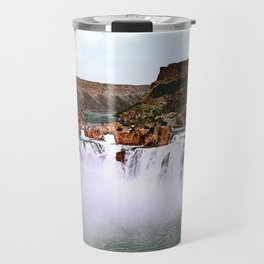 Shoshone Falls, Snake River, Idaho, 1898 Travel Mug