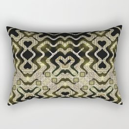 Tribal Gold Glam Rectangular Pillow