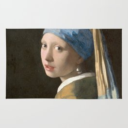 Johannes Vermeer - Girl with the pearl earring (1665) Rug