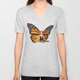Cave Dweller Butterfly Fairy Unisex V-Neck