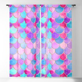Candy Festival Mermaid Scale Pattern Blackout Curtain
