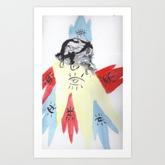 Queen of crowns Art Print