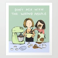 baking Art Prints featuring Baking Advice by Sophie Corrigan