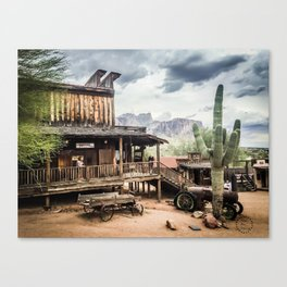 Goldfield Ghost Town, Superstition Mountains, AZ Canvas Print