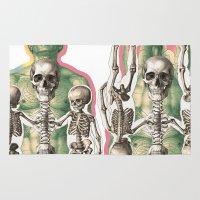bones Area & Throw Rugs featuring BONES by MANDIATO ART & T-SHIRTS