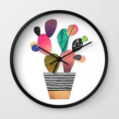 Happy Cactus Wall Clock