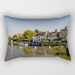 Tudor homes along River Avon. Rectangular Pillow