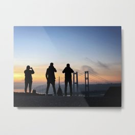 Lookie-Loos (Tacoma Narrows Bridges) Metal Print